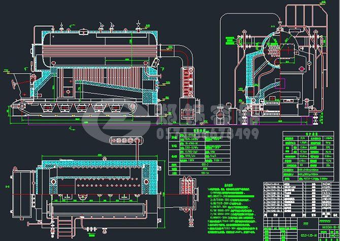 卧式燃煤锅炉结构图1.jpg