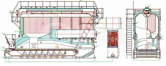 szl系列蒸汽锅炉结构示意图